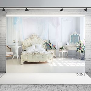 Wholesale baby dresser for sale - Group buy bed dresser vinyl cloth photographic backgrounds for photo shoot X5ft children baby wedding backdrops photo studio photophone photocall