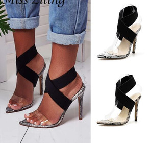 Wholesale Explosion models ladies sandals summer new pointed fish mouth cross with stilettos large size