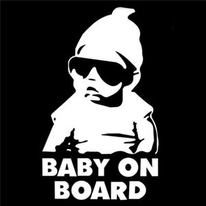 Wholesale Best selling funny cute Baby reflective car stickers safety warning car stickers car rear window baby decals
