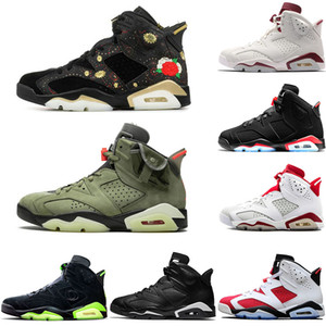 Wholesale shoes psg for sale - Group buy 6 s Mens Basketball Shoes VI Travis Scotts Gatorate Black Infrared Oreo Maroon DMP Psg Angry Bull Sports Sneakers