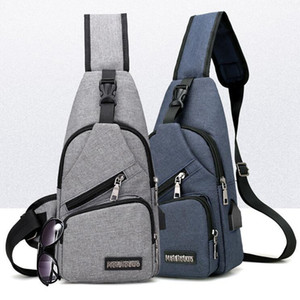 Wholesale Designer Men USB Chest Bag Sling bag Large Capacity Handbag Crossbody Bags Shoulder Bag Charger Messenger Bags Colors OOA3309