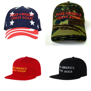 Wholesale Donald trump baseball cap styles outdoor embroidery MAGA Make America Great Again hat sports cap stars striped USA Flag Cap DHL JY546
