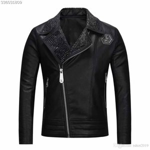 NEW Fashion P Men's leather P motorcycle P coats jackets PPPP used leather coat Leather jacket