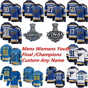 2019 Stanley Cup Final St Louis Blues Hockey Jerseys Vladimir Tarasenko Jersey Alex Pietrangelo Jake Allen Colton Parayko Binnington Custom on Sale