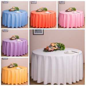 Wholesale Solid Color Round Table Cloths Wedding Party Decorations Tables Runner Modern Colorful Tablecloth Home Antependium Factory Direct rr9 Kk