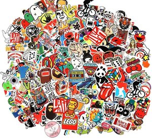 Wholesale Cool Sticker Random Music Film Vinyl Skateboard Guitar Travel Case Sticker Door Laptop Luggage Car Bike Bicycle Stickers