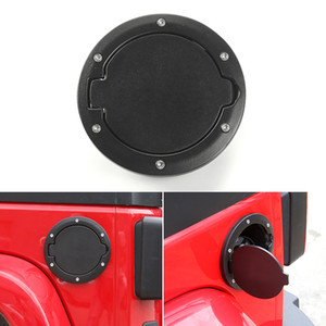 Wholesale jeep jk for sale - Group buy Car Fuel tank cover Gas Cap No Logo Black For Jeep Wrangler JK From To Auto Exterior Accessories ABS Metal