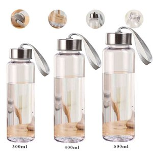 Wholesale Outdoor Sports Portable Water Bottles Plastic Transparent Round Leakproof Travel Carrying for Water Bottle Studen Drinkware