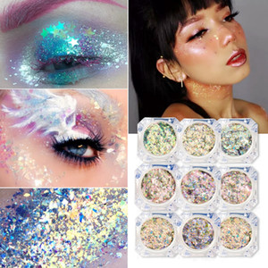 Wholesale Eye Makeup Glitter Sequins Glue Face Manicure Shine Sequins Diamond Glitter Loose Pigment Eyeshadow