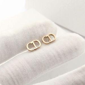 luxury designer jewelry women earrings letter CD stud earrings Stainless Steel silver rose gold 18k gold elagant Alphabet stud fashion style