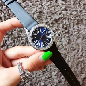 Wholesale Best Quality Luxury Watches Luxury Blue Dial Diamond Bezel Women Watches Quartz Movement Leather Strap Lady Women s Watch Wristwatches mm