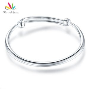 Solid 990 Silver Plain Bangle Bracelet Baby Kids Children Gift Adjustable Size CFB8002 Dropshipping Service Available