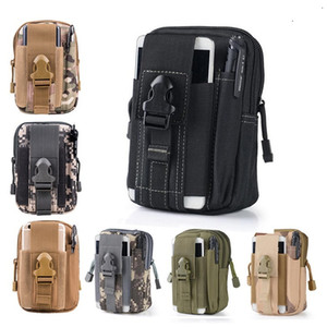 2020 Wallet Pouch Purse Phone Case Outdoor Tactical Holster Military Molle Hip Waist Belt Bag with Zipper for iPhone Samsung LG SONY
