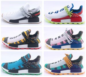 Human Men RACE HU nmd Pharrell Williams Trail Mens Designer Sports neutral spikes Running Shoes for Men Sneakers Women Trainers shoe on Sale