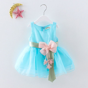 Wholesale Summer Dresses New Girl Dresses Princess Butterfly Flower Dresses epacket