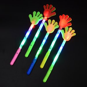Wholesale 35cm Big Size LED Flashing Hand Toy Led Light Palm Slap Night Party Glowing Clap Props Luminous Plam Concert Supplies