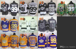 Wholesale 2016 CCM Los Angeles Kings Wayne Gretzky Black Vintage Hockey Jersey With Stanley Cup Patch C patch