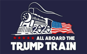 Wholesale 2020 trump car sticker Donald Trump locomotive stickers Train window Sticker Home Living Room Decor Wall Stickers