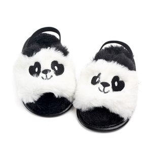 Wholesale New Fashion Summer wool Cute animal Baby slippers first walkers Anti slip Pu leather crib Girls Boys Sneakers Baby shoes