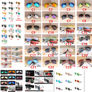 Wholesale Hot Designer Brand New Classic Pilot Sunglasses Cycling Sun Glasses For Men And Women Fashion Dazzle Colour Mirrors Glasses