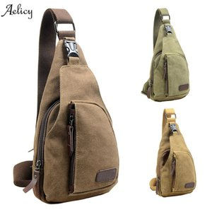 Wholesale Aelicy Mens Casual Canvas Unbalance Crossbody Shoulder Bag New Chest Bags Waist Packs Color hot sale Unisex Boston Bag