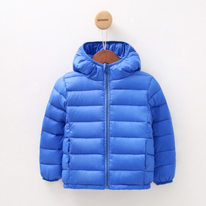 Wholesale Autumn New Fashion Children s Down Jacket Kids Clothes Children Thickening Male Girl Baby Long Sleeve Hooded Warm Coat