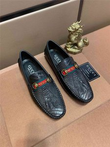 Wholesale 19ss Luxury Italian Shoes Men Spring Autumn Casual Dress Loafers Elegant Leather Brown Design Unique Business Moccasins
