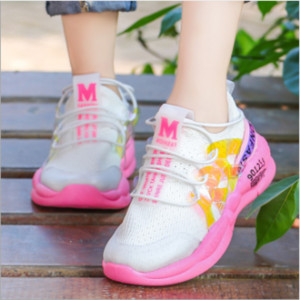 Children's sports shoes boys 2019 summer new old , girls white shoes in the big children casual running net shoes
