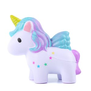 Wholesale 3 Color Squishy PU Unicorn Slow rebound toys New squishy Simulation Funny Gadget Vent Decompression toy B