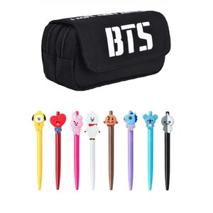 Wholesale BTS Bangtan Boys Love Yourself Student Pencil Case Pen Pouch Bag Ball Pens The Best Gift for Army