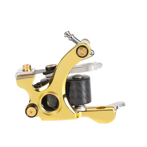 Wholesale Professional Tattoo Machine 24K Gold Layer Frame 12 Wraps Coils Shader Gun Newest Professional Design