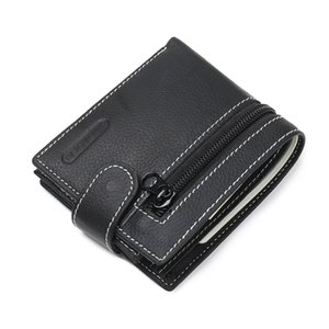 Wholesale Hot sale Brands Fashion Casual Business Retro Short Buckle Leather Wallets High Quality Design Credit Card Holders Men s Leather Wallets