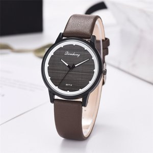 Wholesale Brand Fashion Ladies Watch leather With StrapLeather Strap Watch Simple Printed Monochrome Watch Quartz Movement Wirstwatch