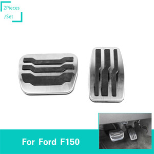 Wholesale Silver Car Throttle Brake Pedal Decoration Cover Car Pedal Covers For Ford F150 Car Interior Accessories