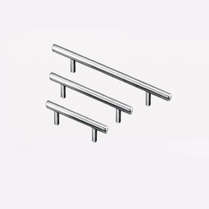 T Type Handles For Cupboard Door Drawer Wardrobe Shoe Cabinet Pulls Stainless Steel 3 Size Universal zhao
