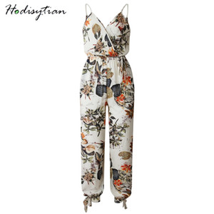 Wholesale Hodisytian Sexy Jumpsuits For Women long Sleeve Body Suits V neck Baggy Wide Leg Stylish Slim Rompers Overalls Female Playsuits