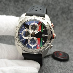 Wholesale Tagheur Outdoor MM Quartz Chronograph Gorgeous Mens Watches Watch Big Black Red Green Dial With High Grade Black Rubber Band