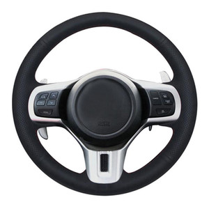 Wholesale mitsubishi lancer evolution for sale - Group buy Hand Sew Black Artificial Leather Car Steering Wheel Cover for Mitsubishi Lancer EVO Evolution