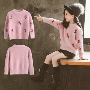 girls sweater winter knit children top warm 2019 teenager clothing pullover inverno