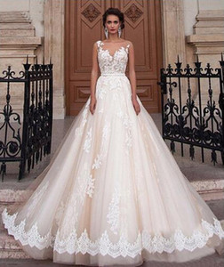 Wedding dresses hot selling sleeveless sexy V neck lace print classic bridal dress decoration skirt bohemian wedding dress bridal gowns on Sale