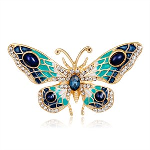 Wholesale japan brooch for sale - Group buy Japan and South Korea hot style personalized oil dripping Color Butterfly Brooch fashion Animal Brooch clothing accessories