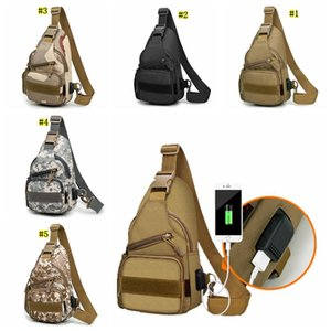 Wholesale Mens Camouflage Chest Bags Fashion Multifunction Messenger Bags Men Crossbody Military Travel Single Sling Shoulder Strap Pack MMA1691