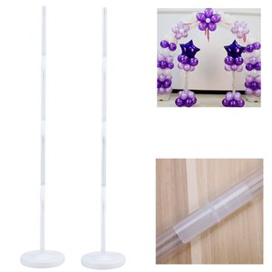 Wholesale 4pcs Balloon Column Stand Kits Arch Stand With Frame Base And Pole For Wedding Party Decoration Q190429