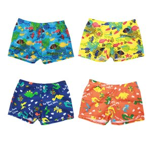Wholesale Newborn Boy Swim Trunks Kids Designer Swimsuit Cartoon Animal Amidships Elastic Force Soft Printing Short Pants 49