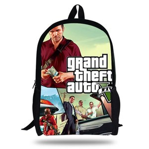 Wholesale New POP Grand Theft Auto Game Printing SchoolBags for Girls Teenagers GTA Fight Bag Backpack Students Bookbag Hot Kids Mochilas