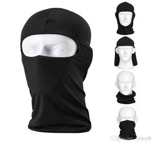 Wholesale motorcycle thermal face mask resale online - Camouflage Thermal Warm Winter Cycling Ski Neck Masks Hoods Paintball Hats Motorcycle Tactical Full Face Mask DS0240 Z02