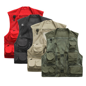 Wholesale Men s Ultralight Mesh Tactical Vest Quick Drying Fishing Hiking Vest Jacket Camping Loose Multi Pocket Hunting