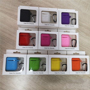 Wholesale For Apple Airpods Cases Silicone Soft Ultra Thin Protector Airpod Cover Earpod Case Anti drop With Hook Retail Box