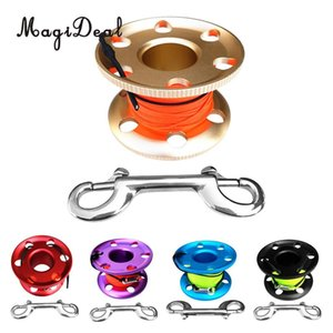 Wholesale MagiDeal Professional Aluminum Alloy Finger Spool Reel m Line Double End Bolt Snap for Underwater Scuba Diving Applications