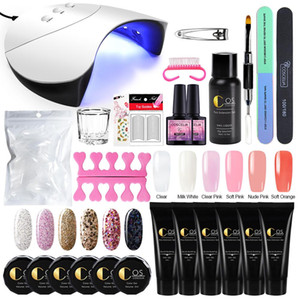 COSCELIA Manicure Set For Nail Kit 36W UV Lamp Dryer Nail Set Gel Polish Builder Gel Extending Poly With UV